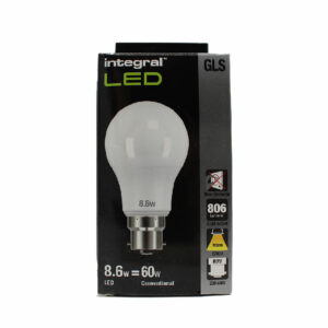8.6W (60W) 2700K B22 Non-Dimmable LED Light Bulb