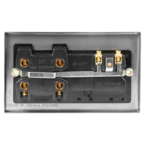 Click Deco Satin Chrome 45A DP Switch Switch Socket VPSC504WH