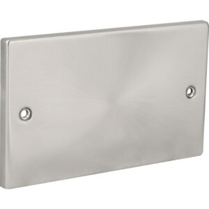 Click Deco Satin Chrome Blank Plate 2 Gang VPSC061