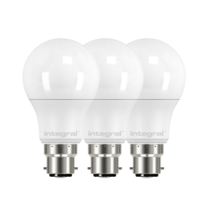8.6W (60W) 2700K B22 Non-Dimmable LED Light Bulb [3 Pack]
