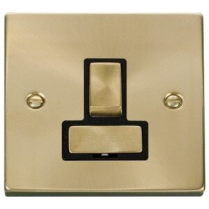 CLICK DECO SATIN BRASS SWITCHED SPUR VPSB751BK
